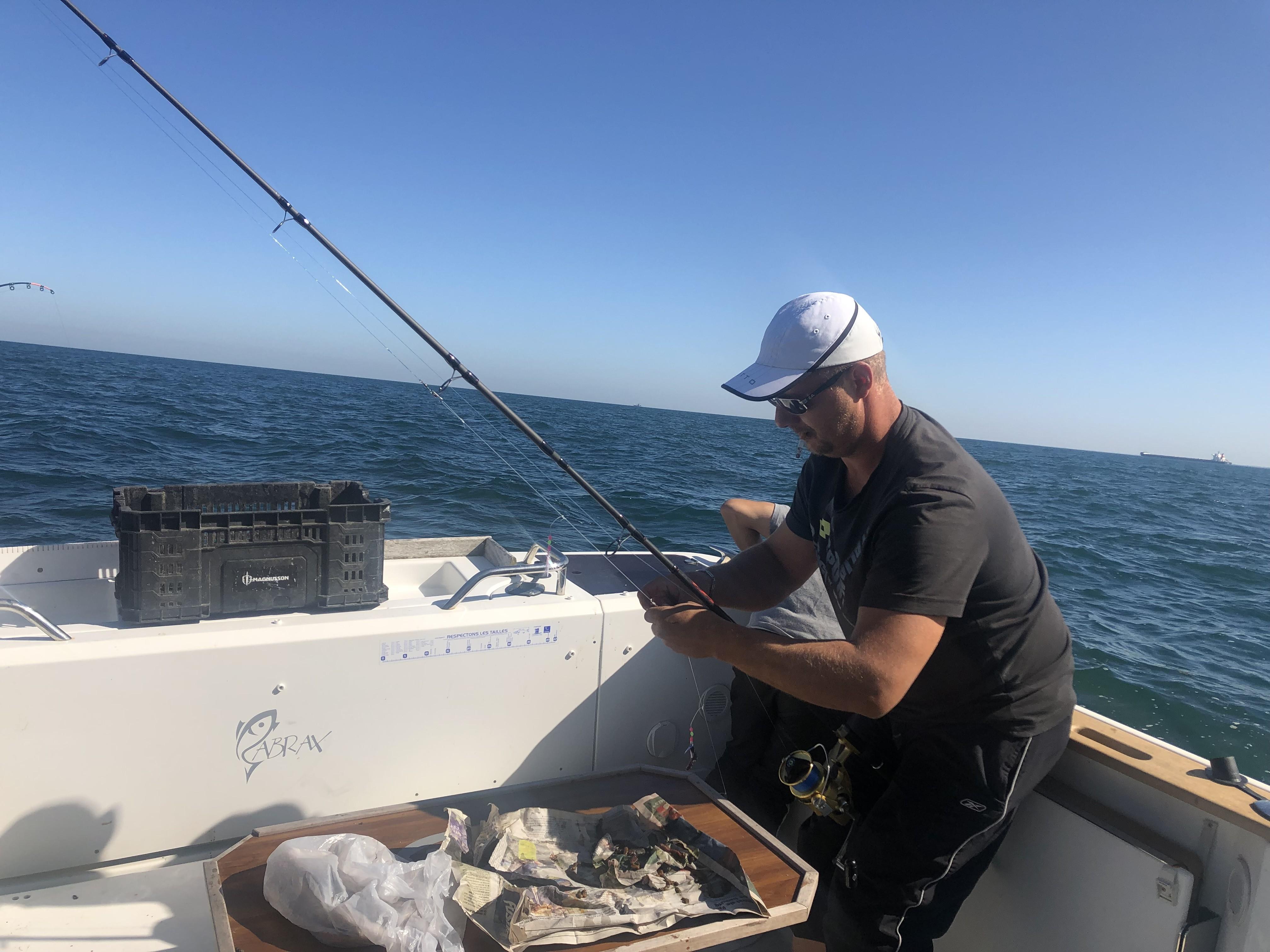 entrain de pêcher